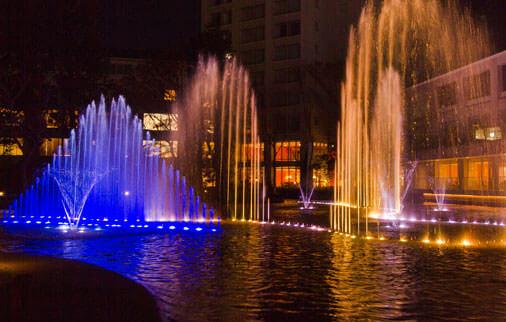 fountain 幻想的な噴水ショー